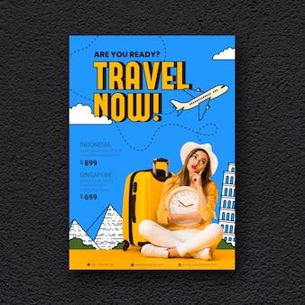 Affiche de voyage avec photo