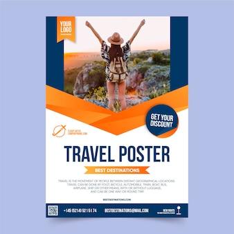 Affiche de voyage avec réduction