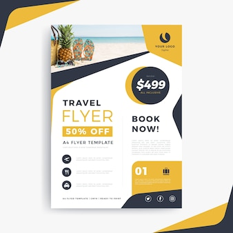 Affiche de voyage avec texte et photo