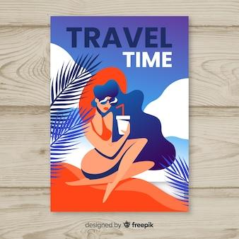 Affiche de voyage vintage design plat