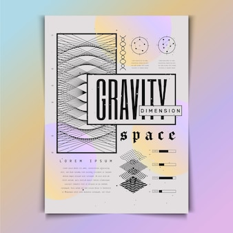 Affiche y2k design plat