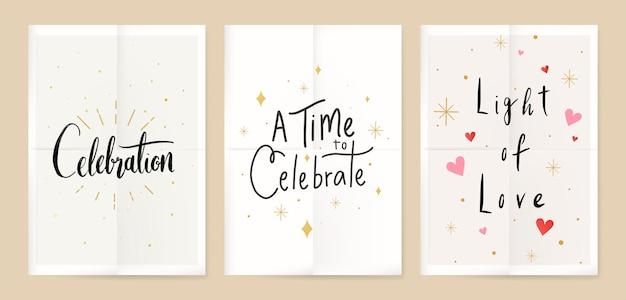 Affiches de célébration