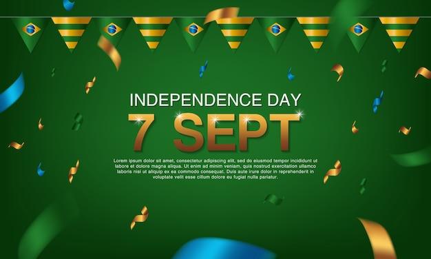 Affiches du jour de l'indépendance brésilienne
