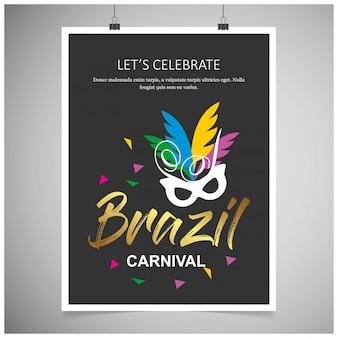 Affiches de fête de carnaval