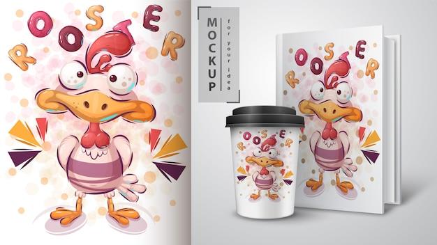 Affiches et merchandising du coq fou
