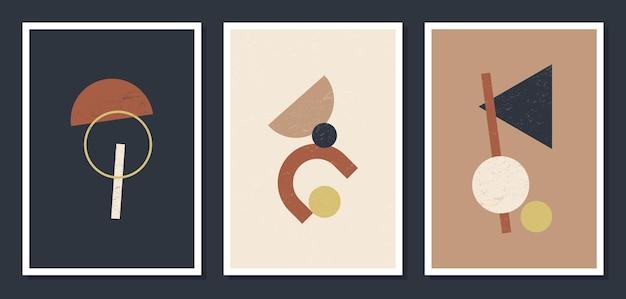 Affiches murales d'art géométrique minimaliste.