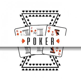 Affiches de poker casino cartes de risque de jeu