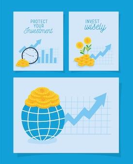 Affiches de protection des investissements