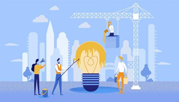 Affiches rapides idées de peinture pour le bâtiment commercial.