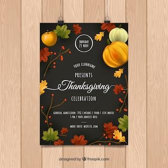 Affiches de thanksgiving day dans le style vintage