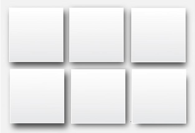 Affiches de vecteur vide blanc réaliste
