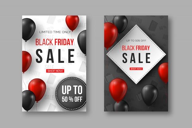 Affiches de vente vendredi noir.