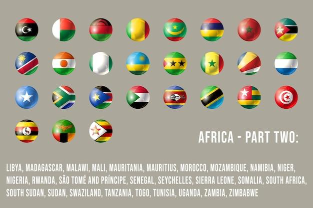 L'afrique ronde drapeaux