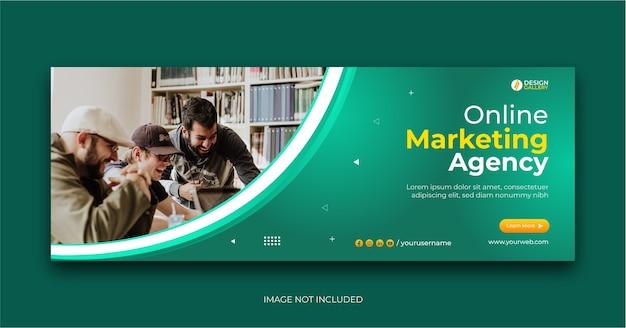 Agence commerciale en ligne et modèle de bannière web créative moderne