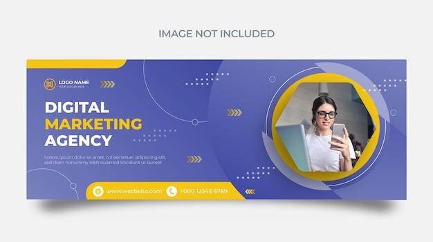 Agence Commerciale De Modèles De Marketing Numérique Et Publications Sur Les Réseaux Sociaux D'entreprise Vecteur Premium