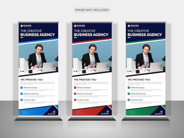 Agence de création d'entreprise retrousser la conception de la bannière ou tirer la conception de la bannière