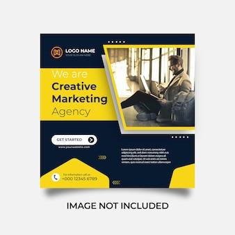 Agence de marketing créatif de bannière web de publication de médias sociaux et modèle d'entreprise