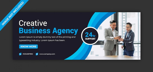 Agence de marketing d'entreprise, médias sociaux, instagram post facebook page de couverture chronologie modèle de bannière d'annonce web