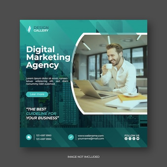 Agence de marketing numérique et conception de modèle de bannière web créative moderne