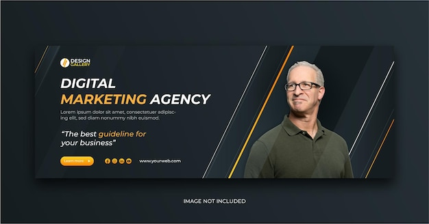 Agence de marketing numérique et modèle de conception de bannière web créative moderne