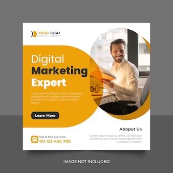 Agence de marketing numérique et modèle de publication sur les réseaux sociaux d'entreprise