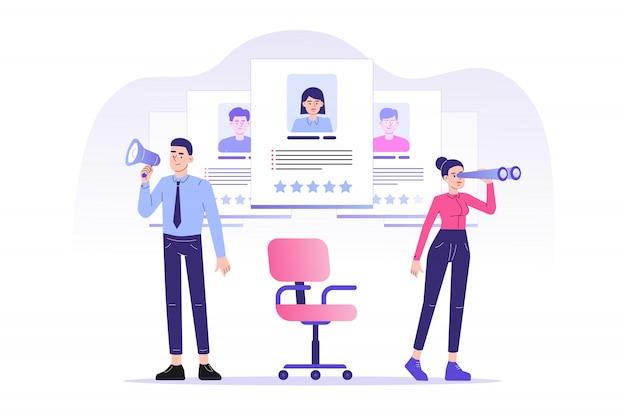 Agence de recrutement et de recherche de têtes en ligne