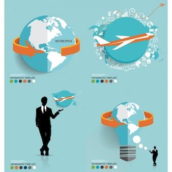 Agence de voyage infographique