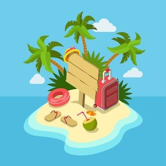 Agence de voyage proposition promo tour affaires vacances web plat