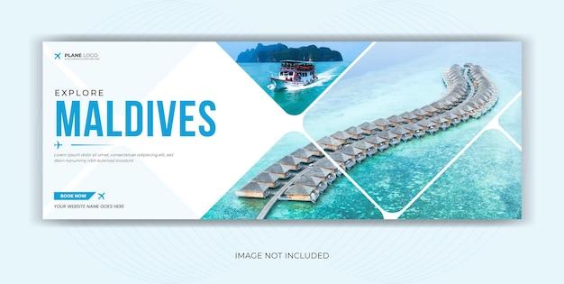 Agence de voyages de voyages médias sociaux facebook cover banner
