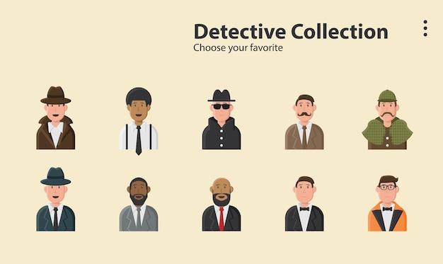Agent détective sherlock sociopathe espion enquête crime illustration fond conception des personnages