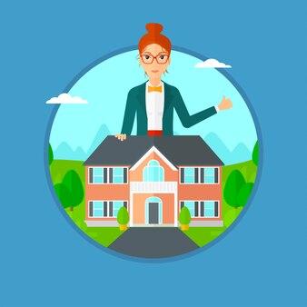 Agent immobilier abandonnant le pouce.