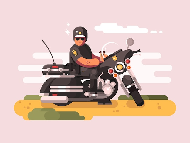 Agent de police en moto