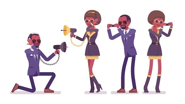 Agent secret, homme et femme espions