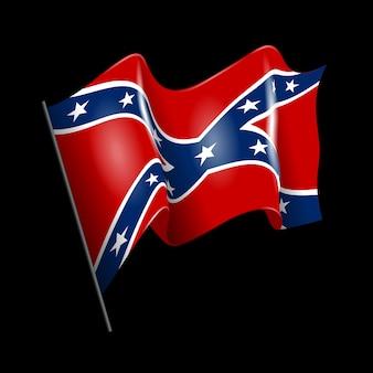 Agitant le drapeau américain confédéré