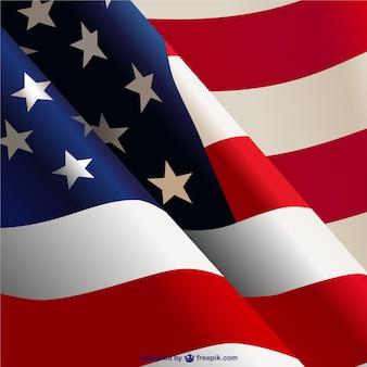 En agitant le drapeau américain