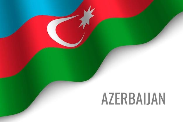 Agitant le drapeau de l'azerbaïdjan