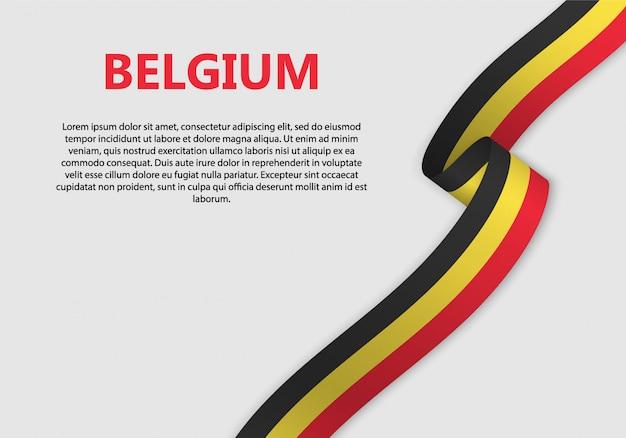 Agitant le drapeau de la belgique