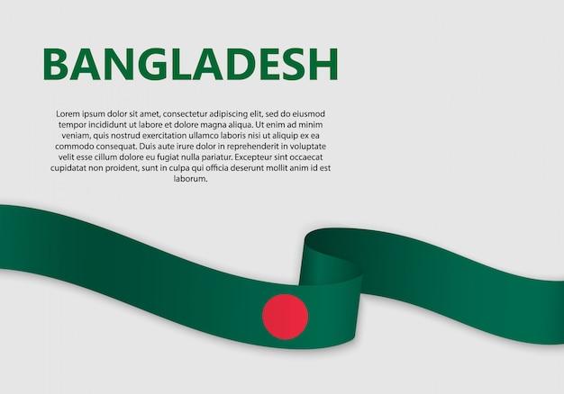 Agitant le drapeau du bangladesh