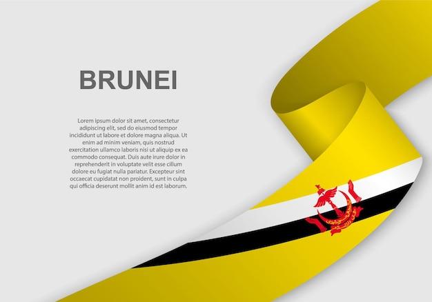 Agitant le drapeau du brunei.