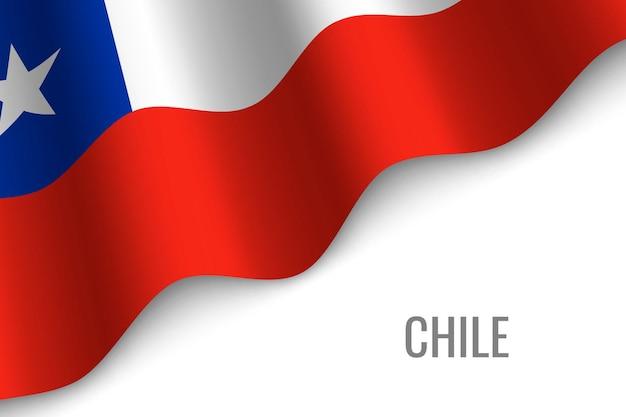 Agitant le drapeau du chili