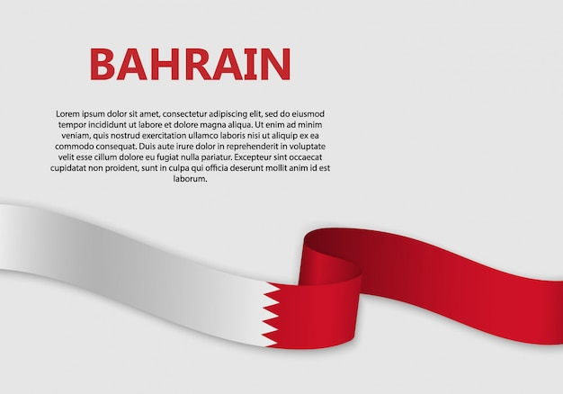 Agitant le drapeau du drapeau de bahreïn