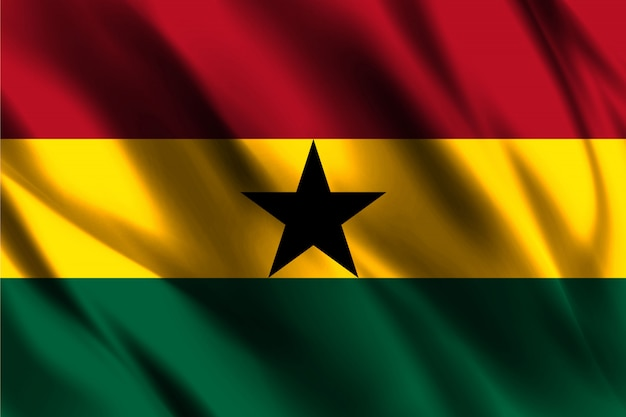 Agitant le drapeau du ghana abstrait