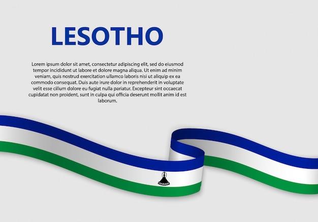 Agitant le drapeau du lesotho