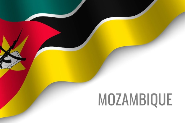 Agitant le drapeau du mozambique