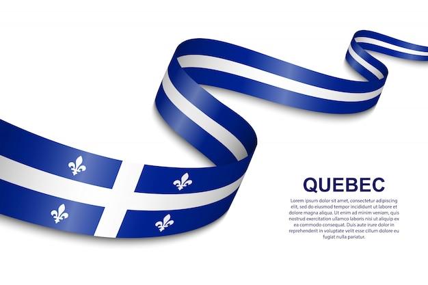 Agitant le drapeau du québec