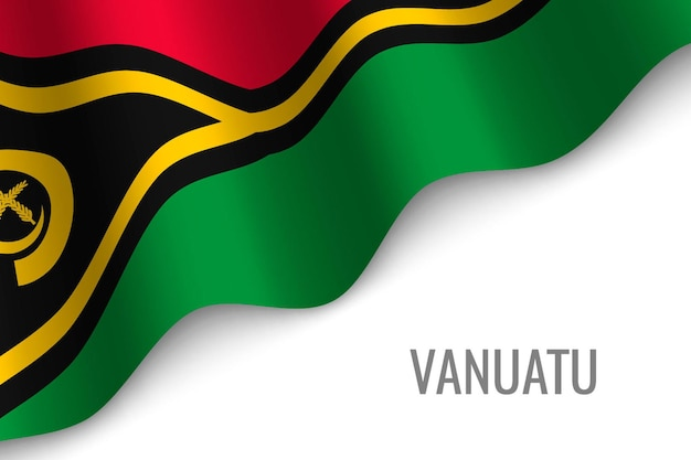 Agitant le drapeau du vanuatu