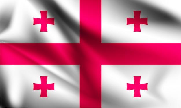 Agitant le drapeau de la géorgie.