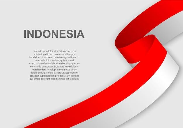 Agitant le drapeau de l'indonésie.