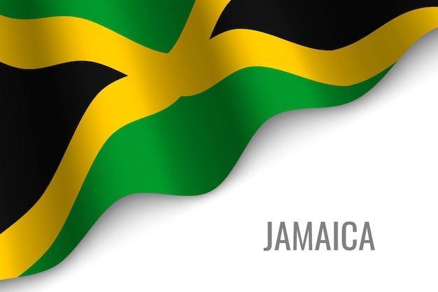 Agitant le drapeau de la jamaïque.