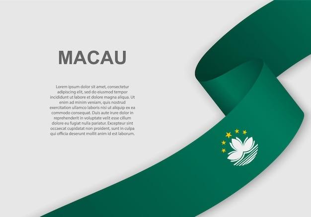 Agitant le drapeau de macao.